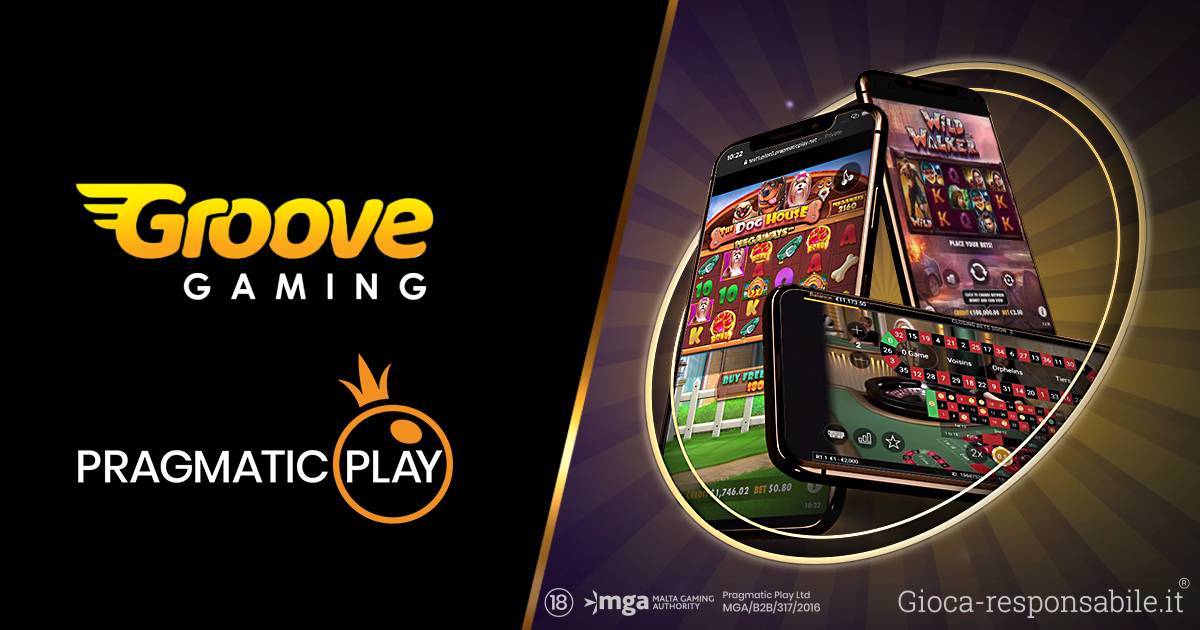PRAGMATIC PLAY LANCIA LE SLOT E IL CASINÒ LIVE SU GROOVEGAMING