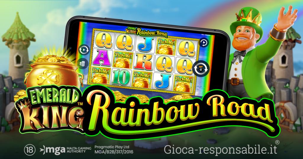Emerald-King-Rainbow-Road-nuova-slot-Pragmatic-Play-in-collaborazione-con-Reel-Kingdom