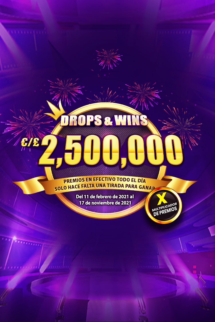 Drops and Wins mobile banner