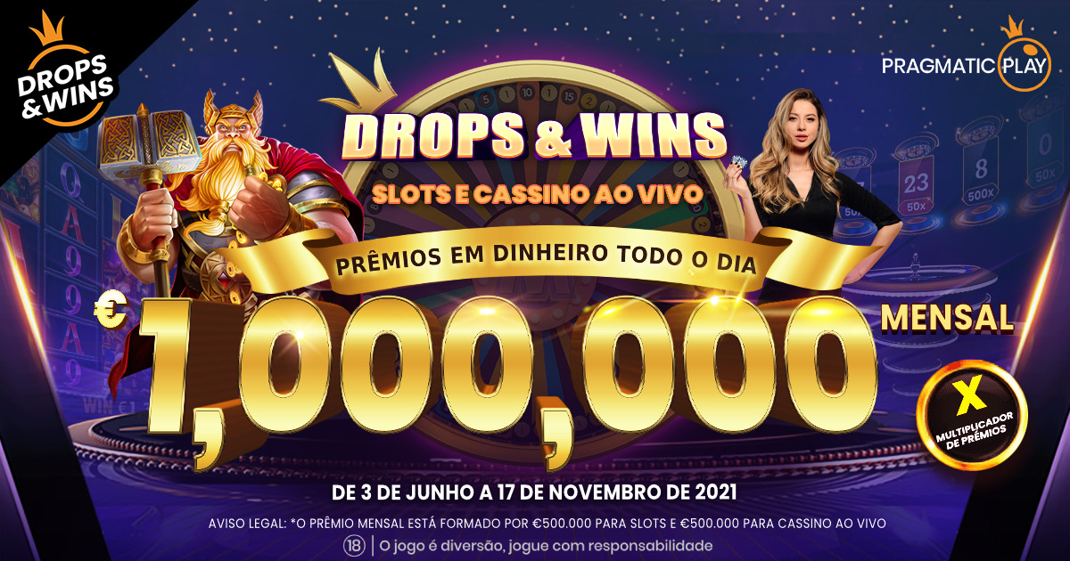 Pragmatic Play aumenta o prêmio de Drops & Wins para €1.000.000 mensal