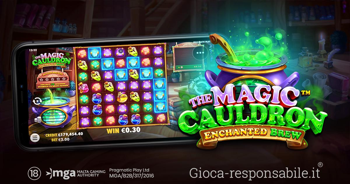 PRAGMATIC PLAY CREA UNA POZIONE MAGICA CON LA SUA NUOVA SLOT THE MAGIC CAULDRON – ENCHANTED BREW