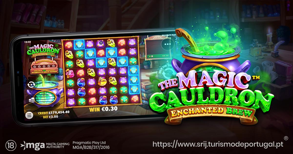 PRAGMATIC PLAY AGITA UMA POÇÃO MÁGICA EM THE MAGIC CAULDRON – ENCHANTED BREW