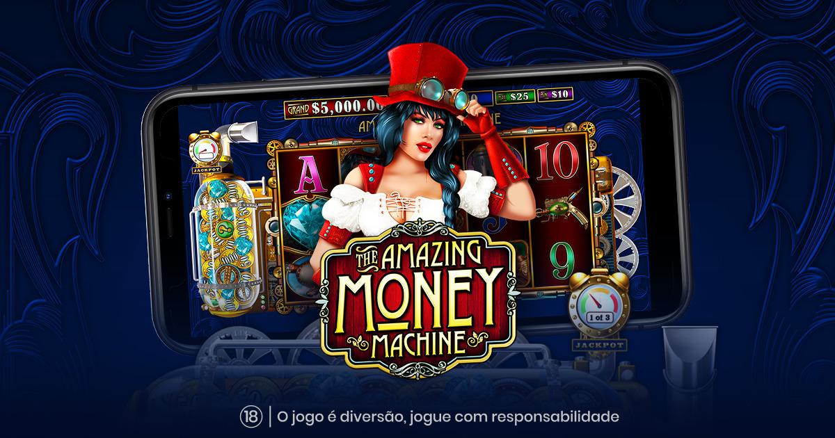 PRAGMATIC PLAY ESTÁ PRONTA PARA DAR MUITOS GANHOS COM O THE AMAZING MONEY MACHINE