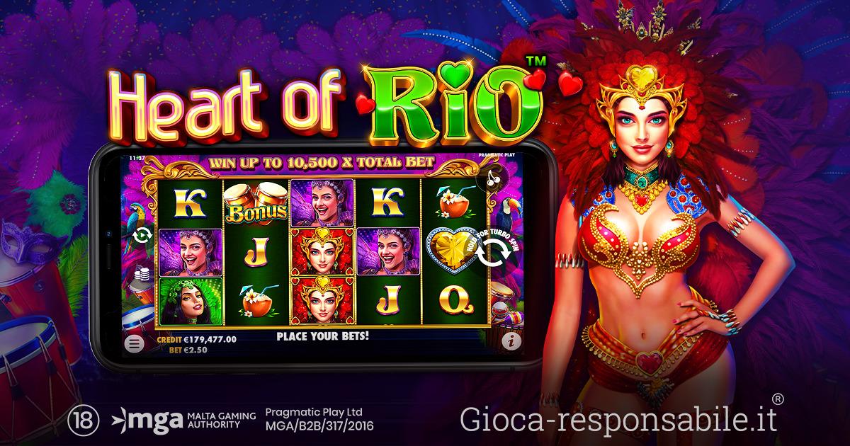 PRAGMATIC PLAY PORTA IL CARNEVALE SUI RULLI DI HEART OF RIO