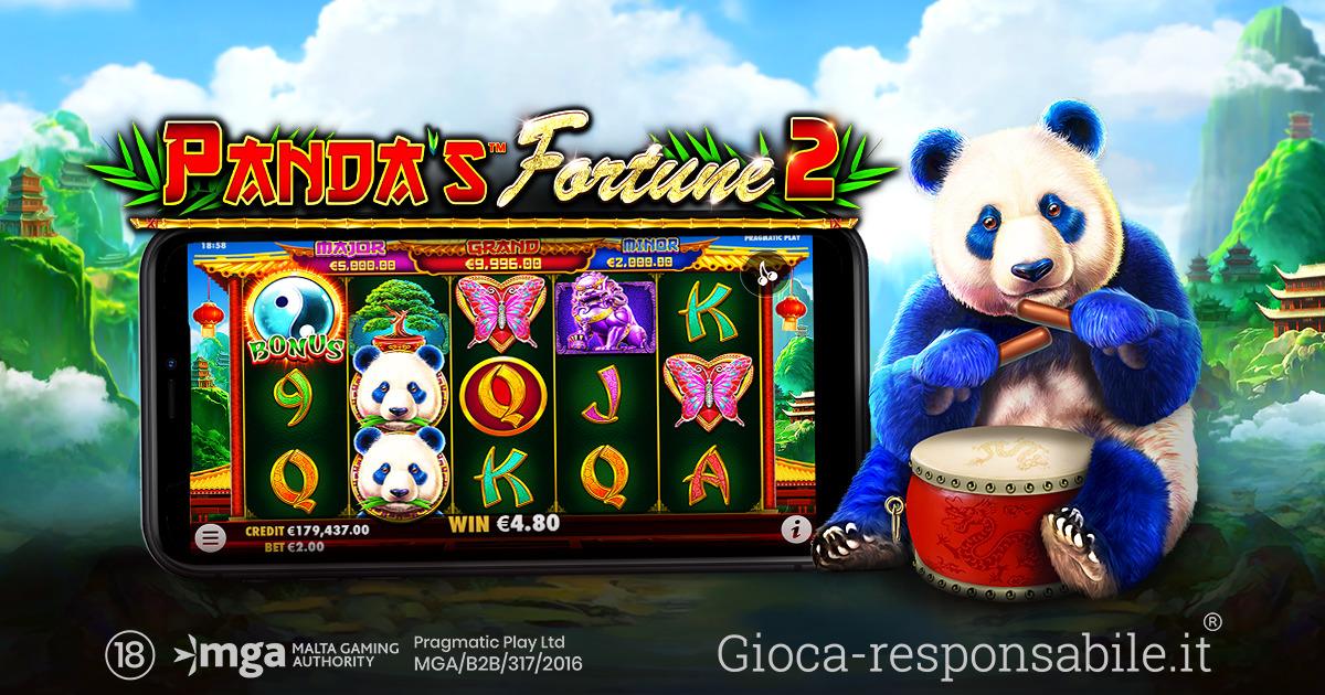 PRAGMATIC PLAY OSPITA NUOVAMENTE IL DOLCE PANDA SUI SUOI RULLI IN PANDA'S FORTUNE 2