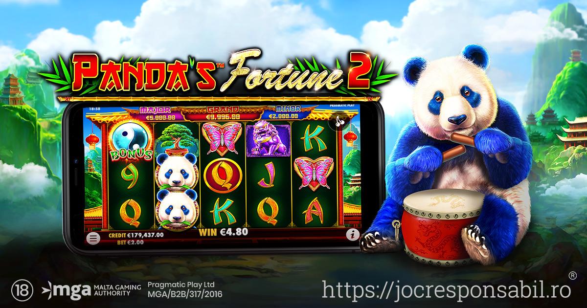 PRAGMATIC PLAY ADUCE DIN NOU PE ECRANE URSUL PANDA ÎN PANDA'S FORTUNE 2