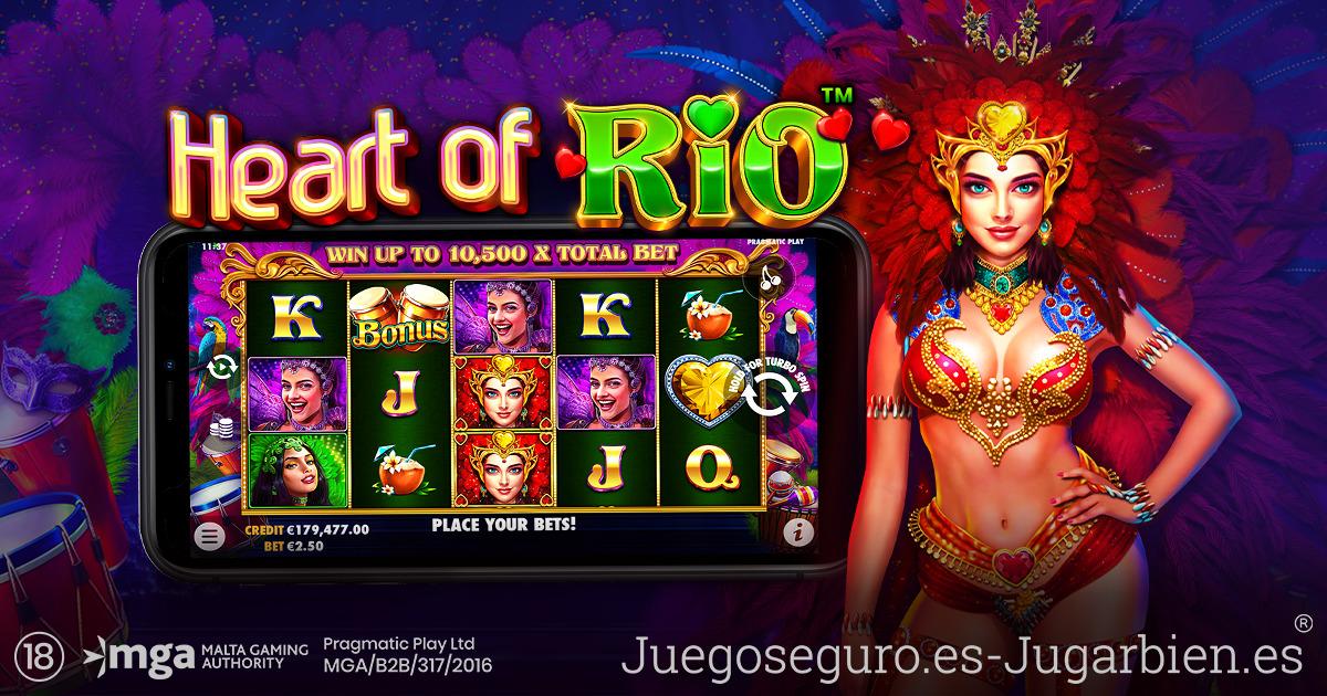 PRAGMATIC PLAY TRAE EL CARNAVAL A LOS RODILLOS EN HEART OF RIO