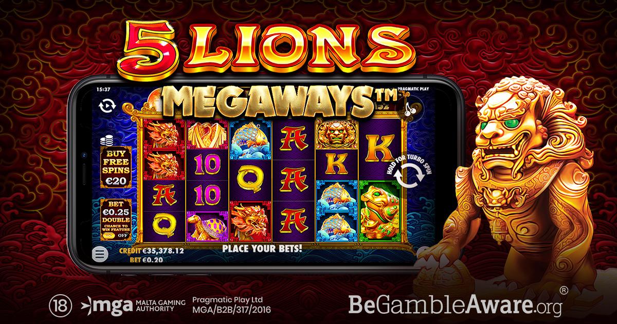 PRAGMATIC PLAY ОТПРАВЛЯЕТСЯ В АЗИЮ В  5 LIONS MEGAWAYS™