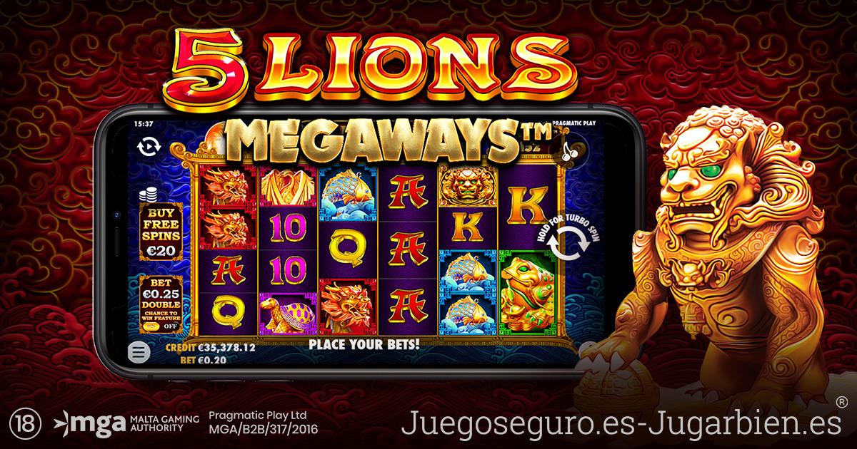 PRAGMATIC PLAY RETOMA LA AVENTURA ASIÁTICA EN 5 LIONS MEGAWAYS™