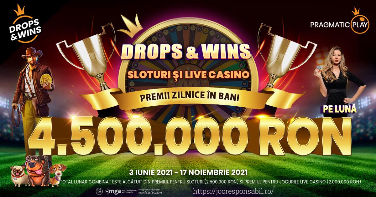 PRAGMATIC PLAY DĂ START PROMOȚIE DROPS AND WINS CU UN SUPER PREMIU DE 7,000,000 DE EURO