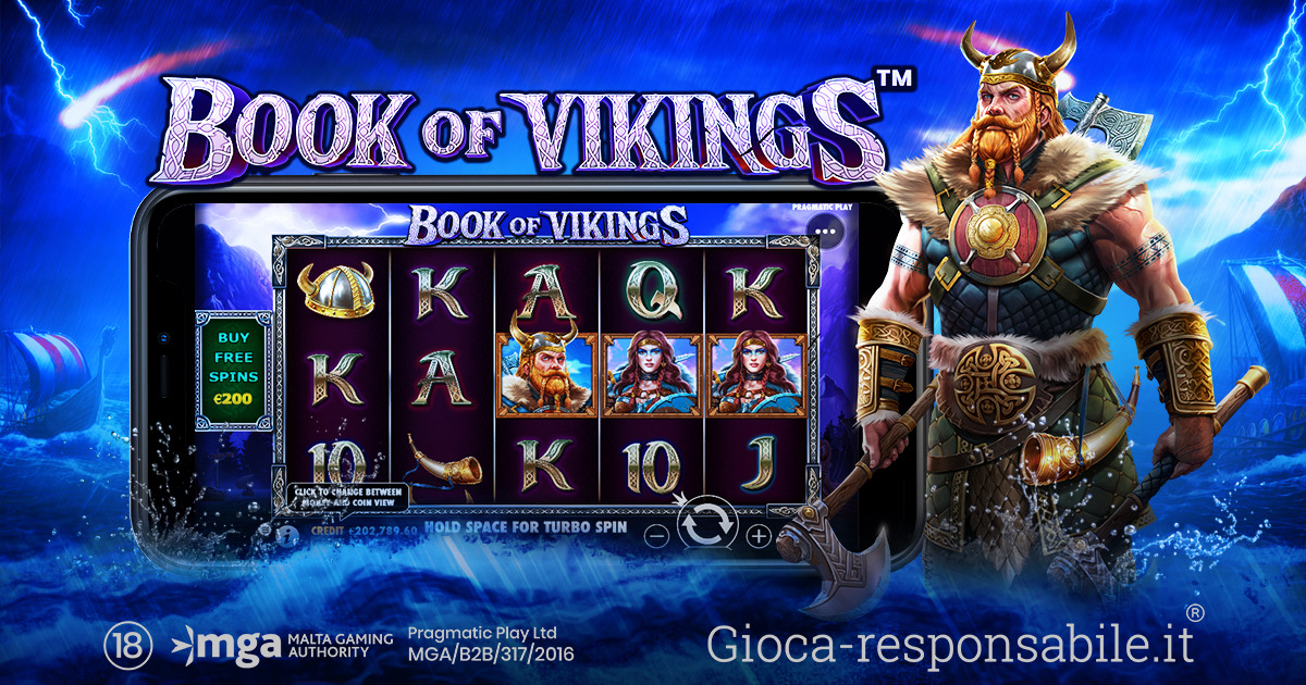 PRAGMATIC PLAY S'IMMERGE NELLA CULTURA NORRENA CON BOOK OF VIKINGS™
