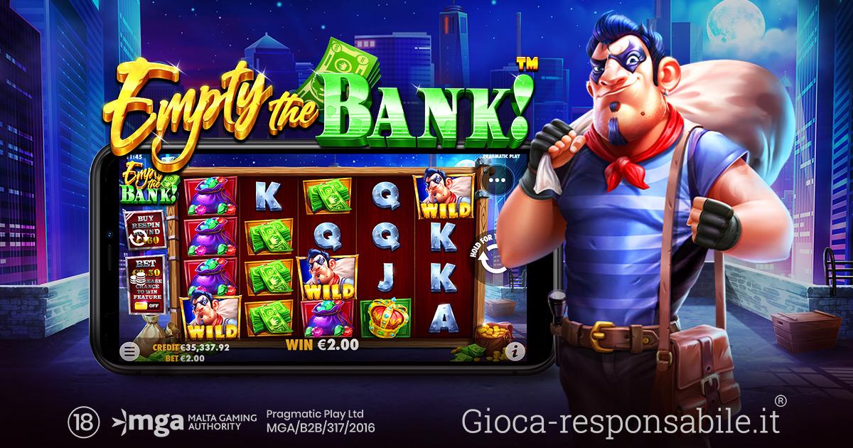 PRAGMATIC PLAY STUDIA LA FUGA PERFETTA CON EMPTY THE BANK™