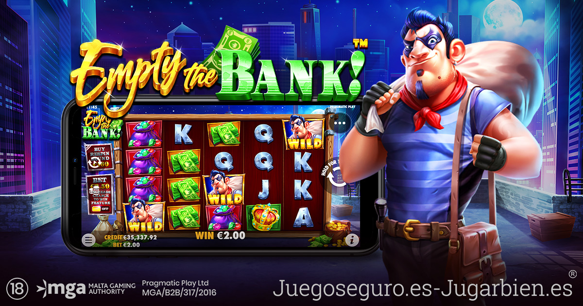 PRAGMATIC PLAY DISEÑA EL PLAN PERFECTO PARA VACIAR EL BANCO EN EMPTY THE BANK™