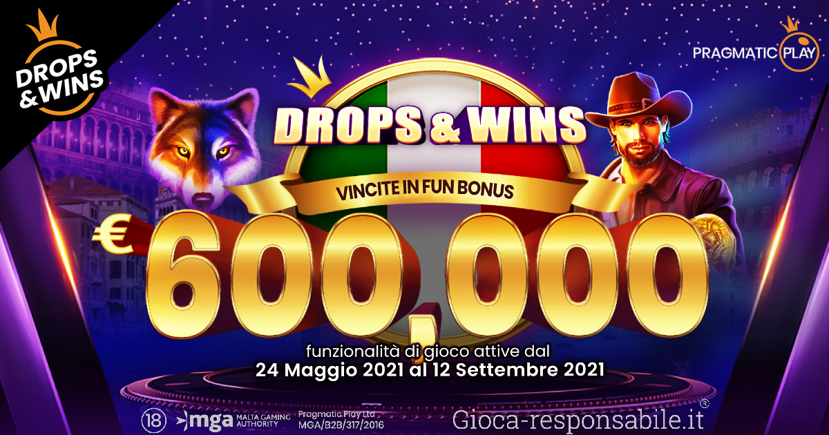 PRAGMATIC PLAY HA LANCIATO I PREMI DEL FAMOSO BONUS DROPS & WINS IN ITALIA