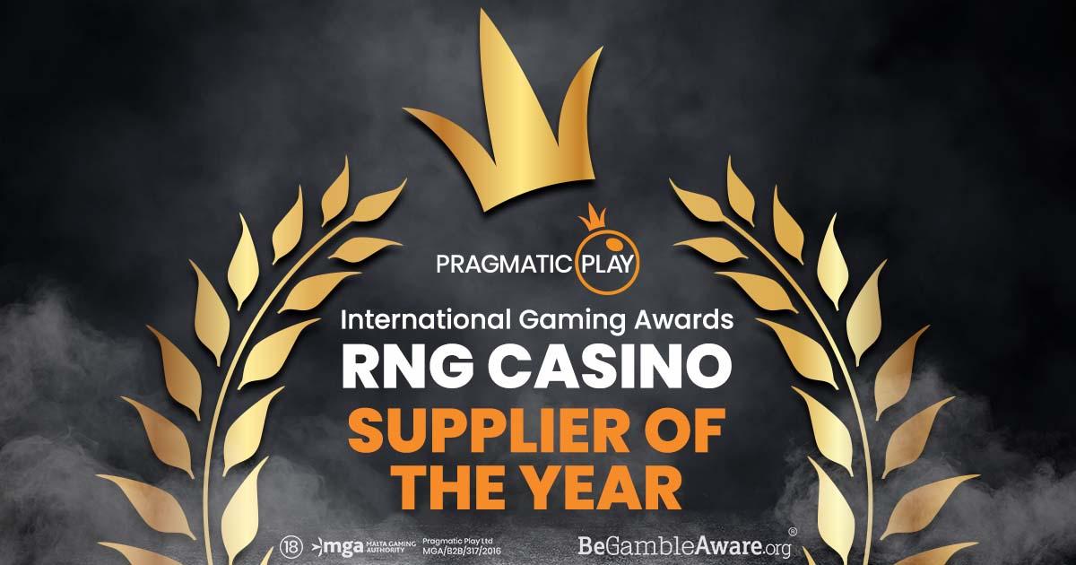 PRAGMATIC PLAY 荣获国际博彩大奖年度RN娱乐场供应商大奖