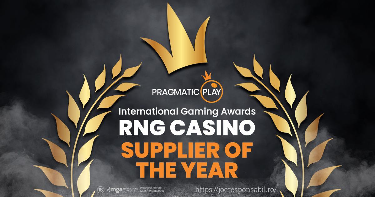 PRAGMATIC PLAY A CÂȘTIGAT TITLUL RNG CASINO SUPPLIER OF THE YEAR LA INTERNATIONAL GAMING AWARDS