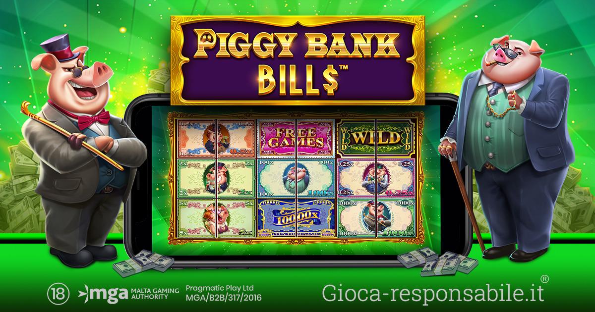 PRAGMATIC PLAY APRE IL CAVEAU DELLA SLOT PIGGY BANK BILLS