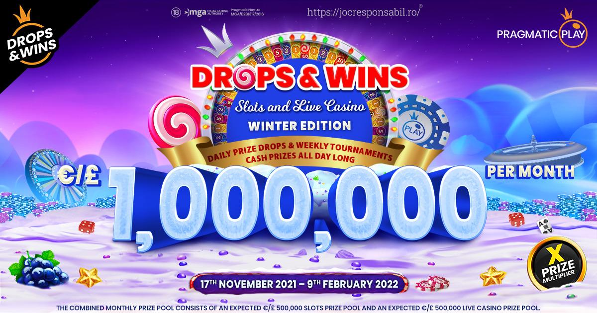 PRAGMATIC PLAY RIDICĂ ȘI MAI MULT ȘTACHETA CU UN PREMIU DE €1,000,000 PE LUNĂ ÎN PROMOȚIA DROPS & WINS